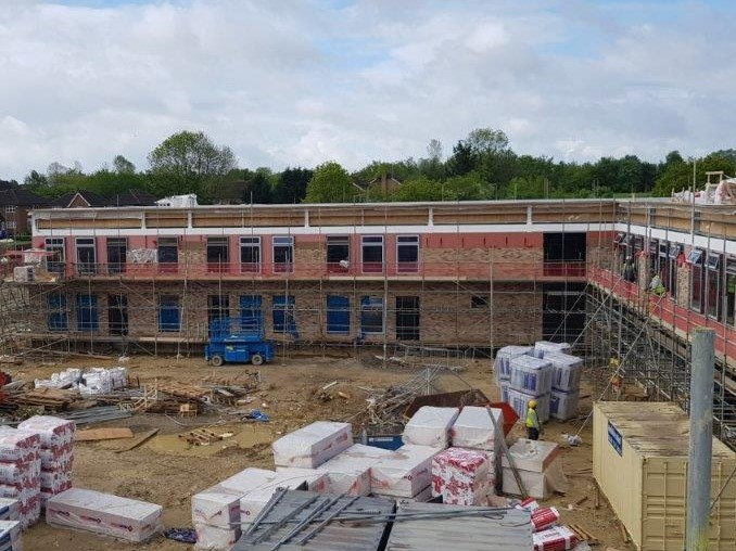 Building site at the school