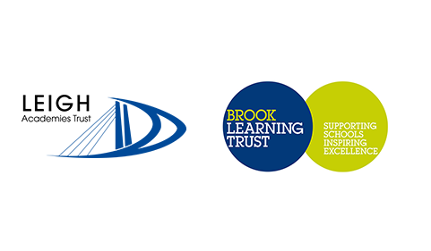 A graphic combining the logos of Leigh Academies Trust and Brook Learning Trust.